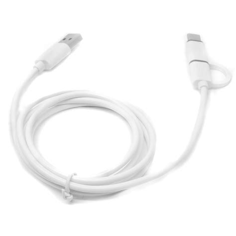 Kabel Data Cable Usb Type C kabel data 2 in 1 usb type c micro usb white