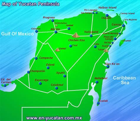 map of mexico yucatan peninsula the pink iguana maps of tulum riviera www