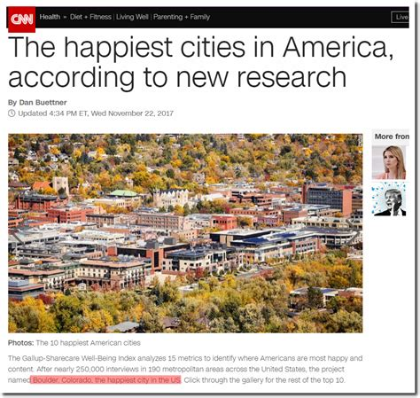 happiest cities in america quot massive increase in science integrity slated for colorado
