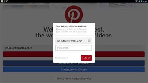 pinterest login login www sign in