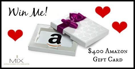 How Much Is An Amazon Gift Card - february giveaway a 400 amazon gift card mix wellness