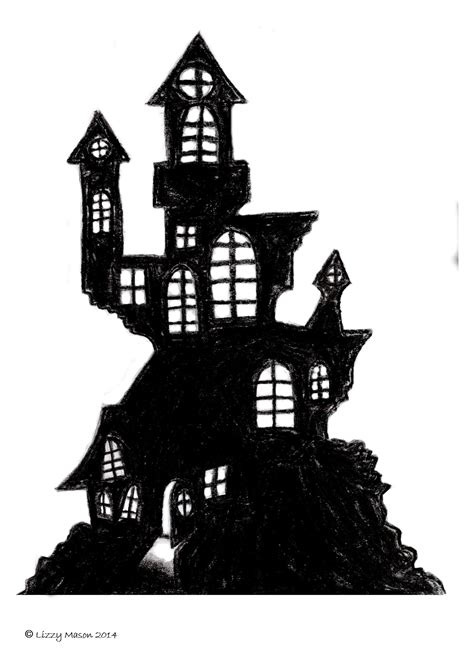 a4 printable halloween pictures haunted house printable images from a4 a0
