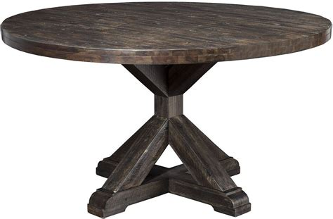Pedestal Dining Table Round Newberry Grey Round Dining Table From Alpine Coleman