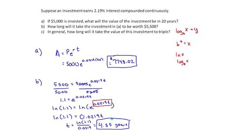 Compounding A P 1 R N Nt A Pe Rt continuously compounding interest exle mth 145 section