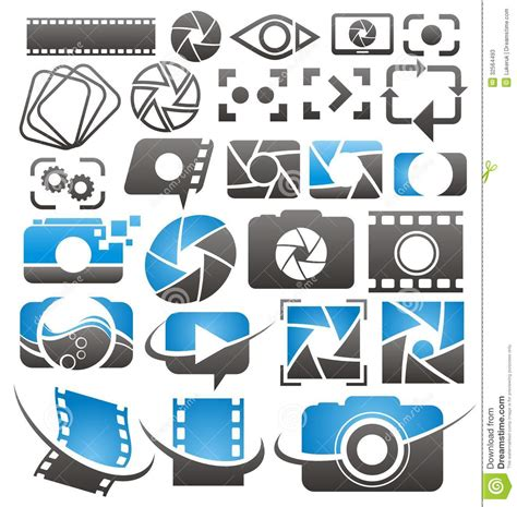 photographic design elements vector photo and video icons symbols logos and signs collection