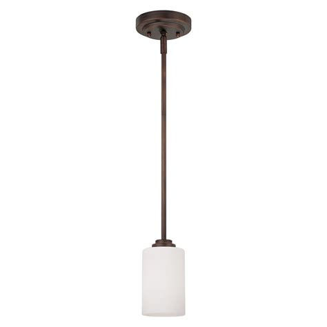 Shop Millennium Lighting Bristo 5 In Rubbed Bronze Mini Cylinder Pendant Lighting