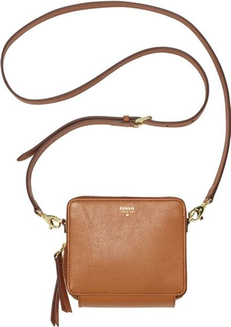 Tas Fossil Original Fossil Sydney Camel Crossbody fossil sydney leather mini organizer crossbody in brown camel lyst