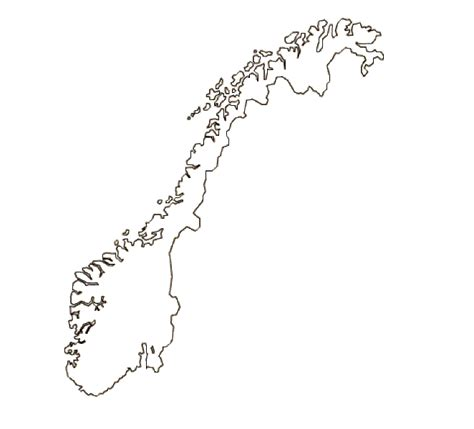 map  norway terrain area  outline maps  norway