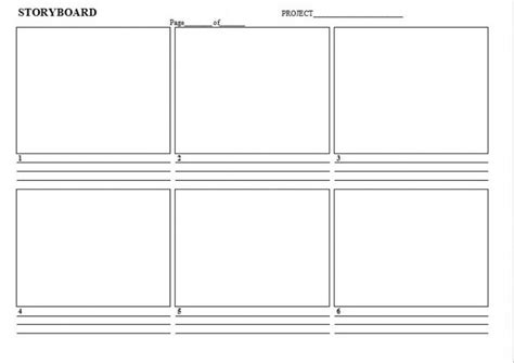 storyboard template app professional blank animation storyboard template word pdf