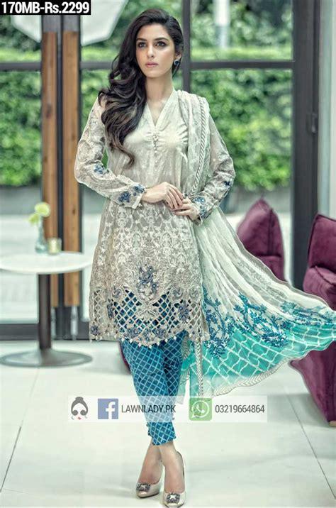 dress design lawn 2016 maria b replica lawn 2016 3pcs suit 170mb price rs 2299