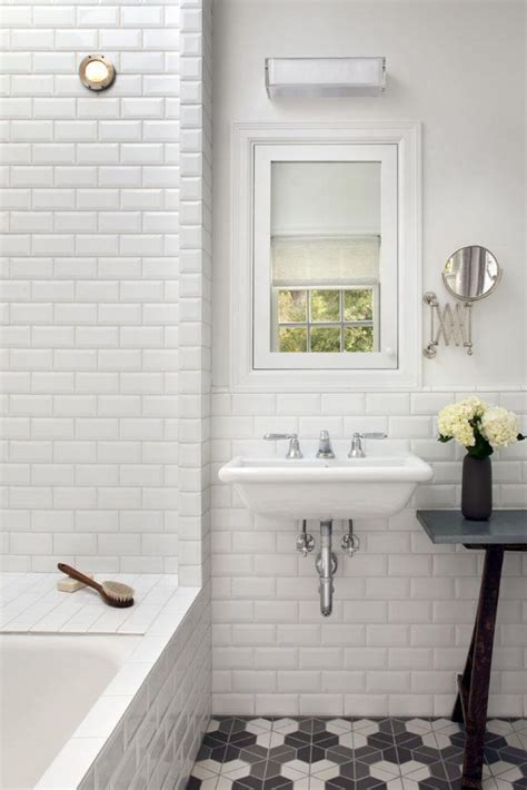 white subway tiles bathroom home design ideas