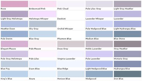 pale lilac gray or noble lavender paint colors