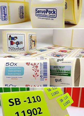 Etiketten Rolle Bedruckt by Bedruckte Etiketten Auf Rollen Servopack In Vielen