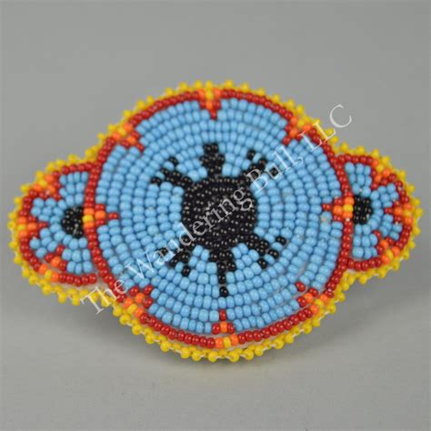 beaded rosette patterns barrette beaded turtle rosette wandering bull llc