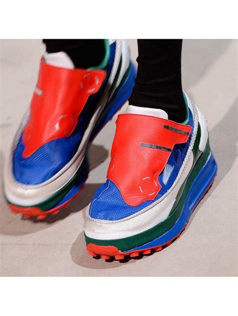raf simons x adidas trekker 1 trainers redgreenwhiteblue in blue for lyst