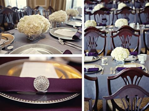 purple and gray wedding centerpieces emanuela s next i thought about how amazing a