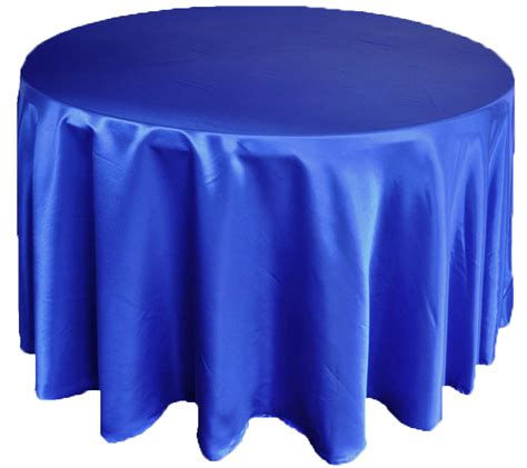 132 royal blue satin tablecloths