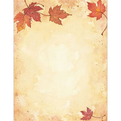 printable fall stationery paper fall leaves autumn and thanksgiving printer paper your