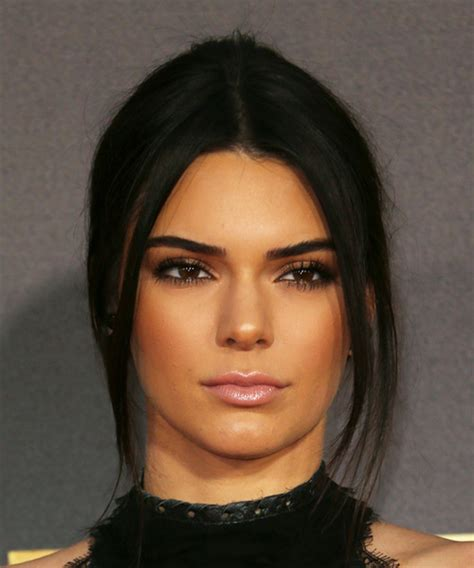 kylie jenner face shape kendall jenner updo long straight casual updo hairstyle