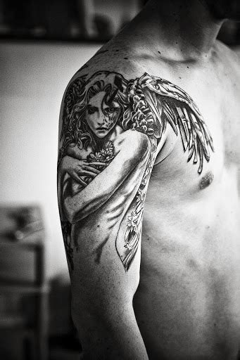 angel tattoo upper street arm tattoos and designs page 59