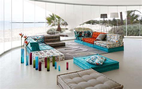 la roche bobois divani roche bobois mah jong sofa in jean paul gaultier designed