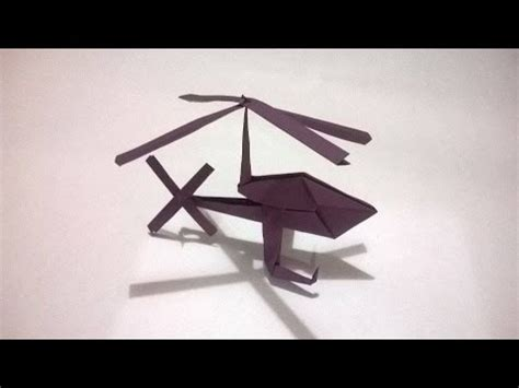 Origami Helicopter - origami helicoptero de papel how to make a paper