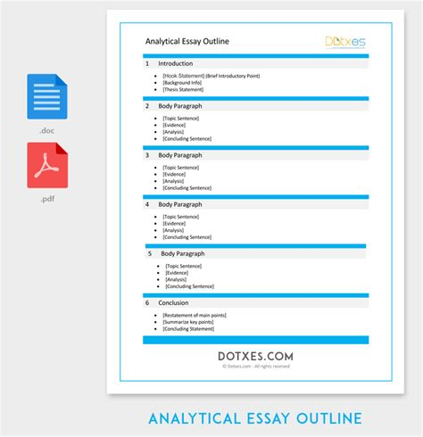 Analytical Analysis Essay by Writing Introductions For Analytical Essay Outline Worksheet