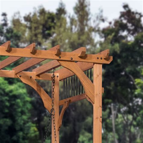 pergola swing cedar pergola swing patio products backyard discovery