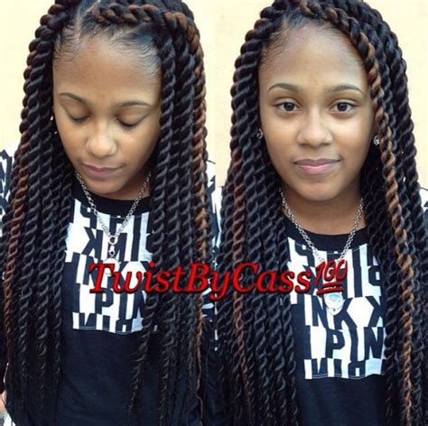 a large twist in straight hair medium rope twist braids www pixshark com images