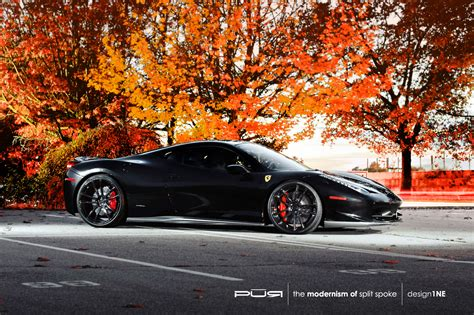ferrari 458 wheels ferrari 458 italia rides on pur wheels autoevolution