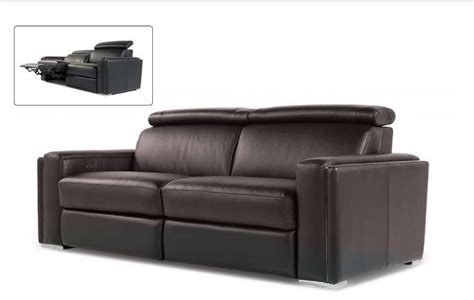 Ellie 100 Top Grain Black Leather Power Reclining Sofa Top Grain Leather Sofa Recliner