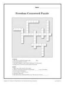 black history printable worksheets freedom crossword