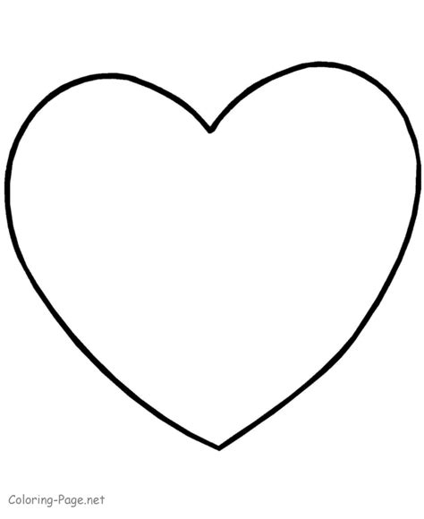 valentine coloring page simple heart