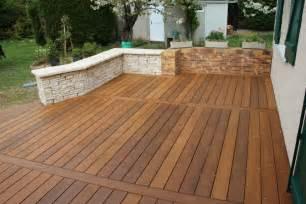 terrassen zäune cr 233 ation et am 233 nagement de terrasse en bois paysagiste