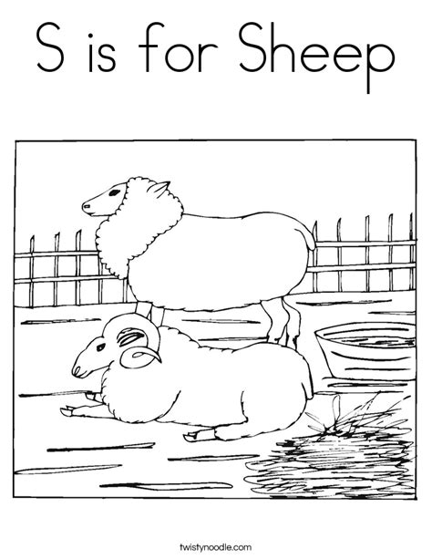 coloring page year of the sheep s is for sheep coloring page twisty noodle