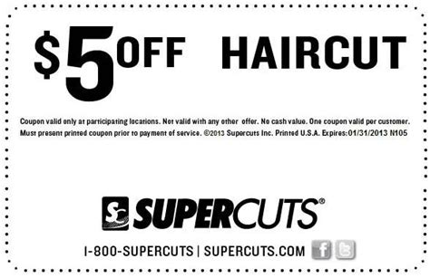 haircut coupons toronto supercuts 5 off haircut printable coupon