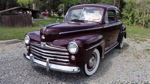 1948 Ford Deluxe 1948 Ford Deluxe V8 2 Door Sedan In Monsoon Maroon