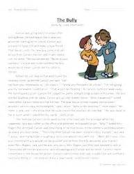 second grade reading comprehension worksheet the bully