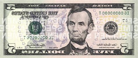 abraham lincoln on the five dollar bill lincoln المرسال