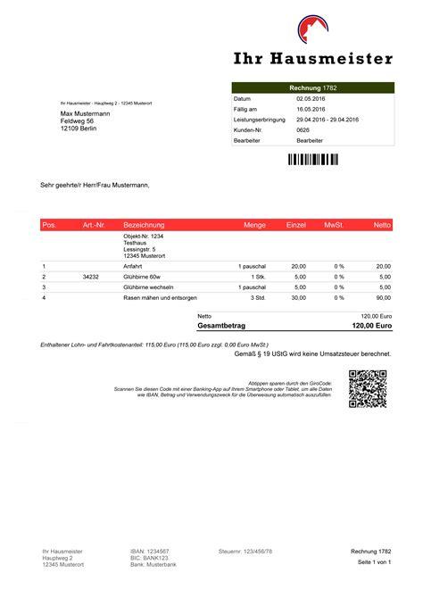 Muster Rechnung Hausmeisterservice Hausmeister Faktura Software Rechnungsprogramm Angebot Rechnung Objektverwaltung Ebay
