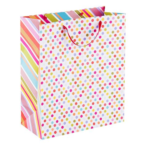 pattern gift bags jumbo pattern pop dot gift bag the container store