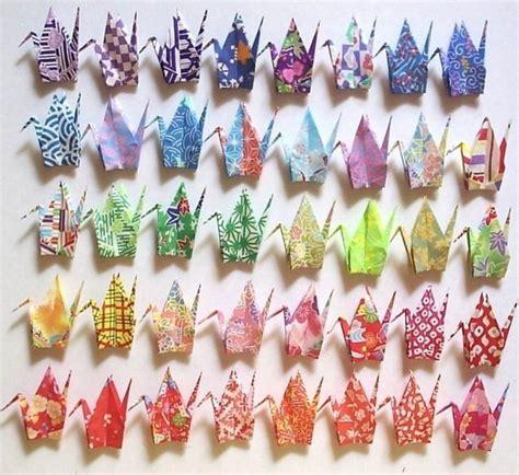 Small Origami Paper - 40 small origami cranes origami paper cranes paper crane