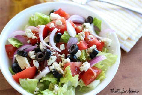 greek salads easy to make greek salad the taylor house