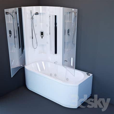 bathroom in a box 3d models bathtub bath hafro duo box