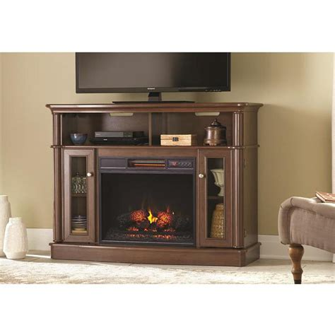 Front Electric Fireplace by Home Decorators Collection Tolleson 48 In Media Console