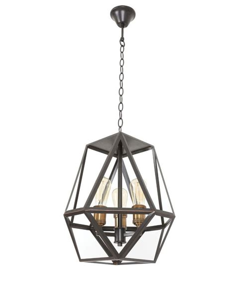 Beacon Lighting Pendants Beacon Lighting Vaille 3 Light Pendant In Rubbed Bronze With Copper L Holders Lounge