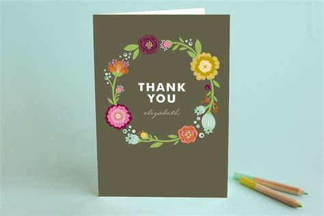Gry Birthday Cards Garden Party Adult Thank You Greeting Cards By Ale Minted