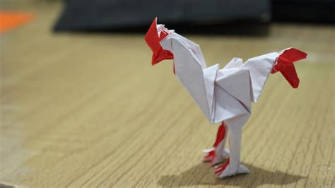 origami rooster tutorial how to origami rooster tutorial carlson choo year