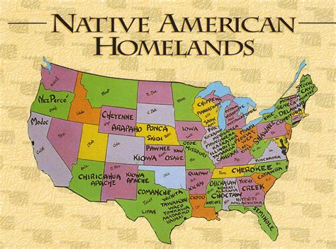 america map indian tribes usa american homelands map postcard from their