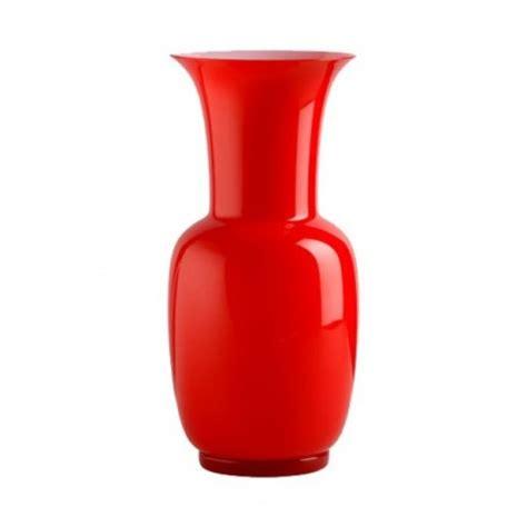 vaso venini vaso venini murano in vetro opalino rosso allegranzi
